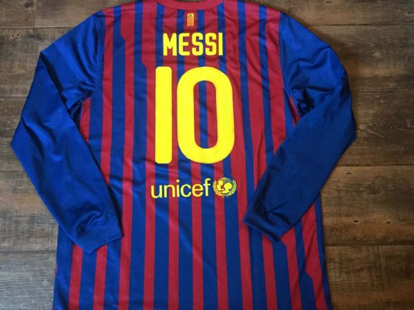 2011 2012 Barcelona Messi Home L/s Football Shirt Adults XL